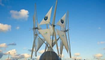 La France se dote de sa première éolienne à voiles