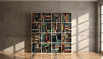 Une sélection de bibliothèques en bois pour votre maison bois