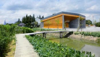 Un splendide centre communautaire en bois à Jintao en Chine
