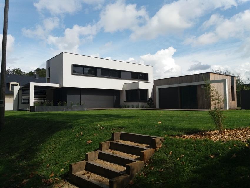Maison avec extension bois