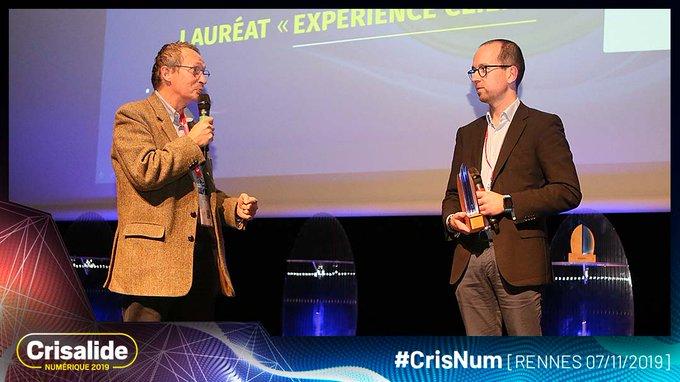 Remise du trophée Crisalide numérique 2019