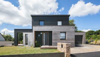 Maison bois modulaire et bicolore en Bretagne (29)