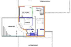 Plan de la maison à l'étage