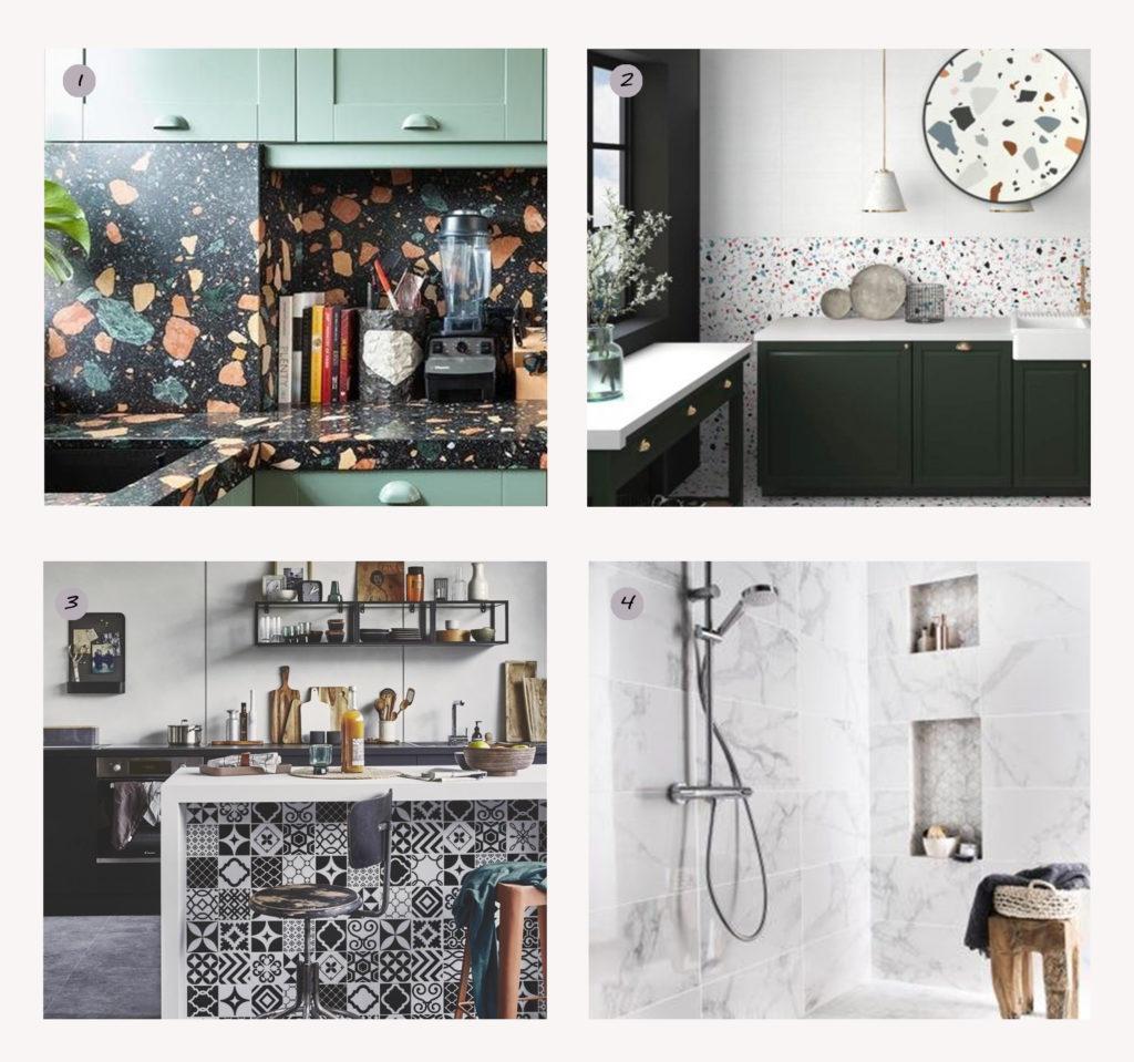 La faïence idéale pour la décoration de la cuisine et de la salle de bain