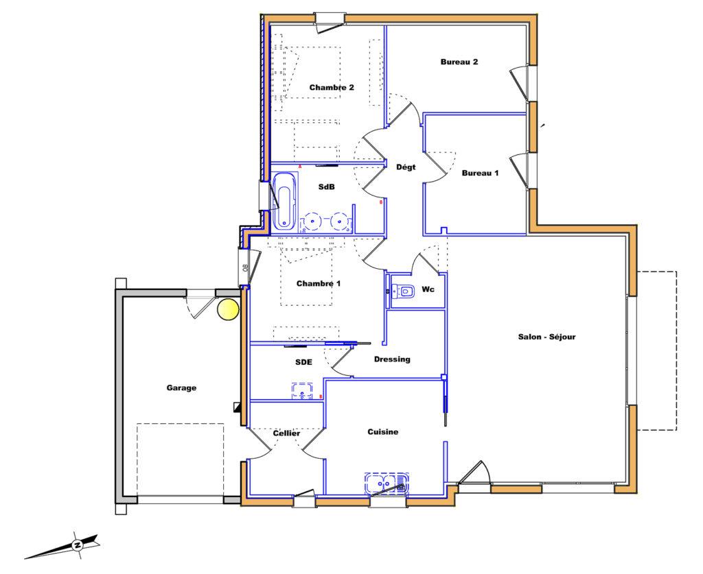 Plan de la maison en bois