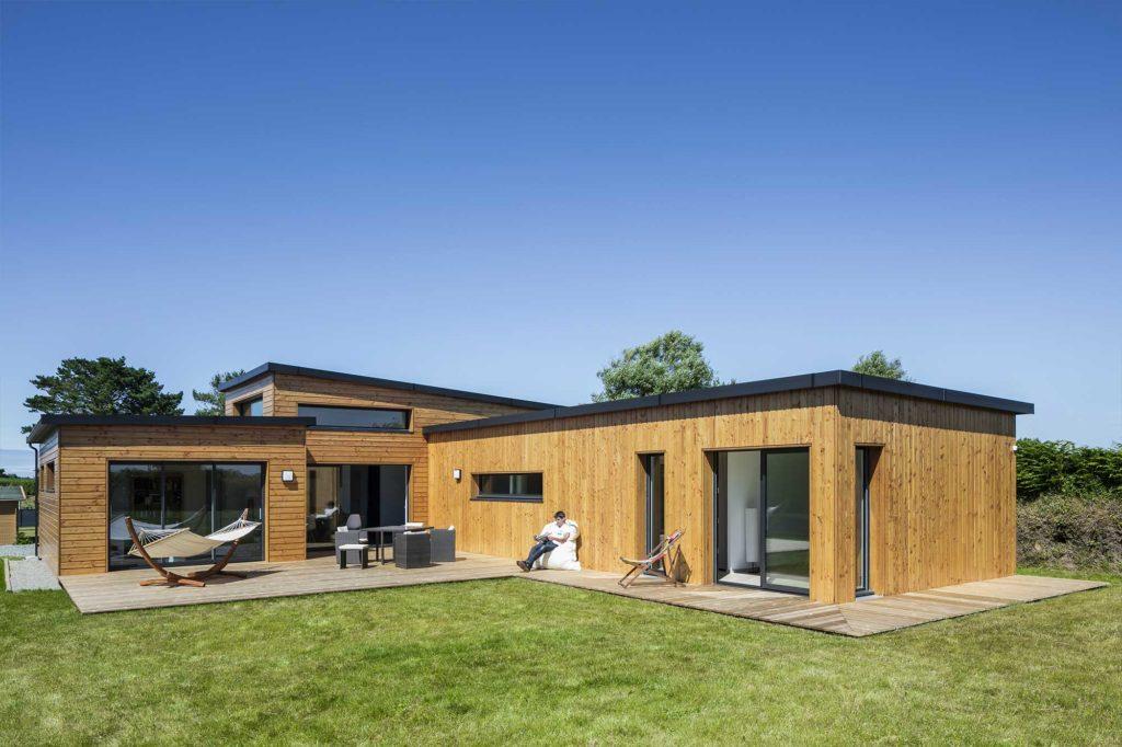 Photo d'une maison à ossature bois Trecobois