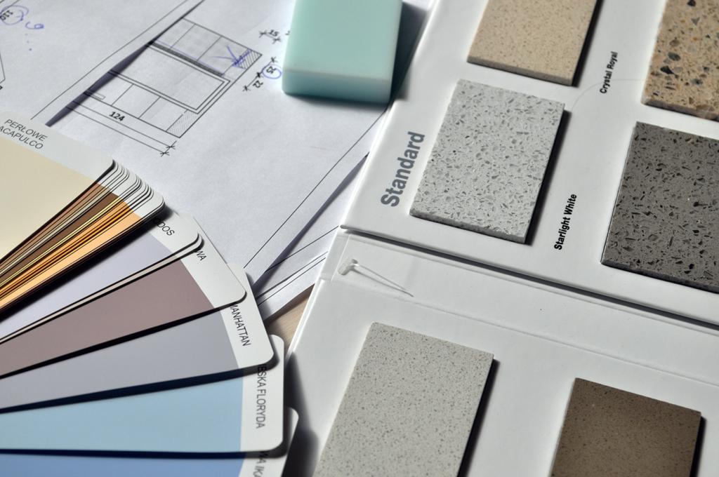 Palette de couleurs et de matériaux